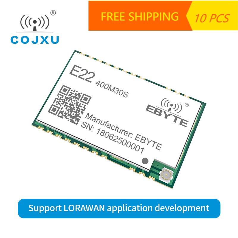 10pcs/lot LORAWAN SX1268 433MHz LoRa TCXO Wireless Transceiver SMD 30dBm IPEX Stamp Hole  Long Range rf Module  E22-400M30S