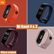 Официальный оригинальный силиконовый ремешок Xiaomi Mi Band 3, универсальный браслет Xiaomi mi band 4, браслет, умные часы, аксессуары