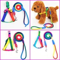 new colorful pet leash dog leash nylon rainbow color suitable for small and medium sized dogs adjustable dog leash pet products
