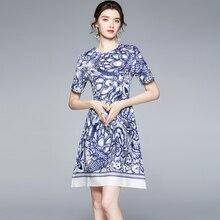 ZUOMAN Women Summer Elegant Dress Festa High Quality Vintage Office Party Robe Femme Runway Designer