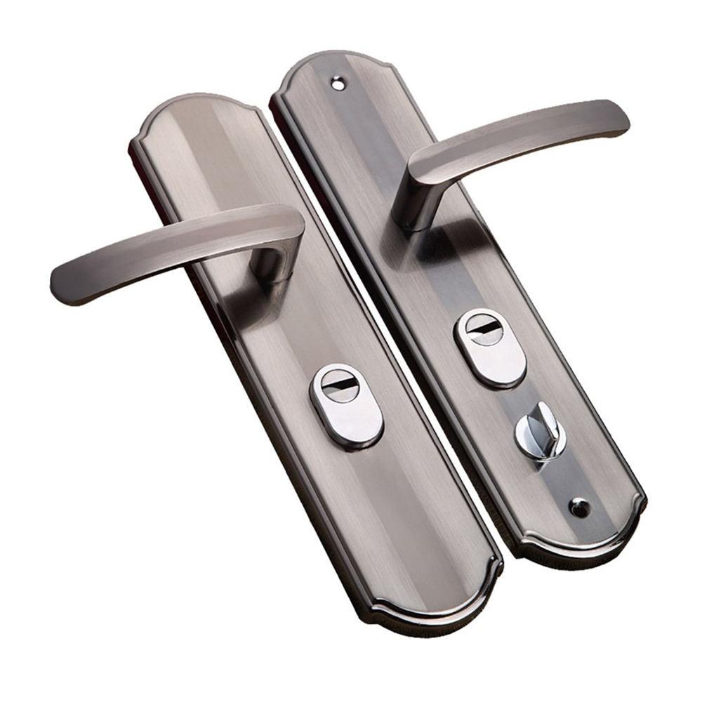 Aluminium Alloy Door Handle Universal Security Door Handle Pair Lock Thickened Panel Handle Door Lock  Household Hardware