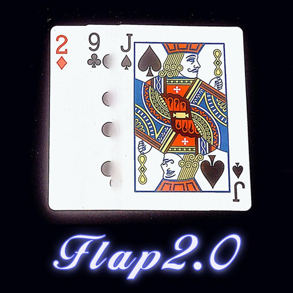 Flap 2.0 Magic Tricks Stage Close Up Magie Continuously Change Twice Card Magica Mentalism Illusion Gimmick Prop trucos de magia недорого