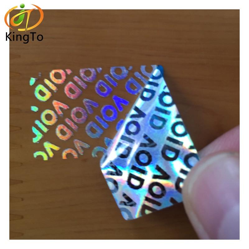 Etiqueta evidente da etiqueta do holograma da segurança