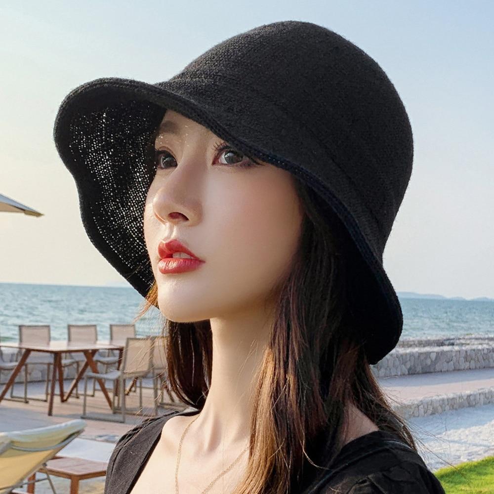 Brand New Summer Straw Hat Women Fashion Travel Panama Female Trend Bucket Hat Lady Sunshade Breathable Sun Caps