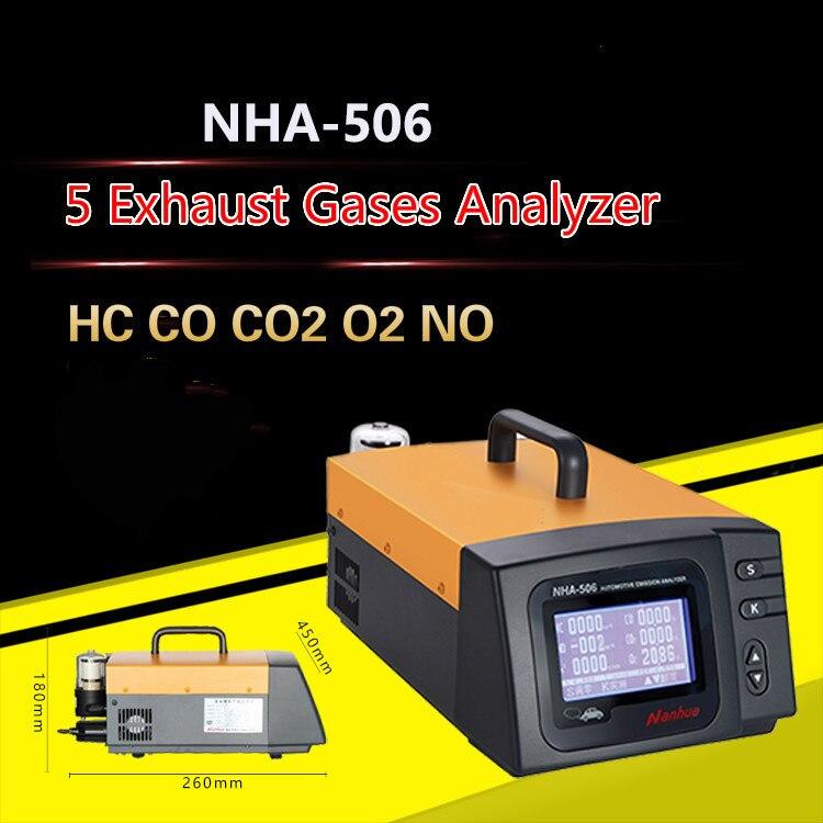 NHA 506 автомобильный пятидюймовый тестер калибровки выхлопных газов HC CO CO2 O2 NO 5