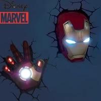 disney 3d creative wall lamp marvel avengers captain america shield iron man anime birthday gift