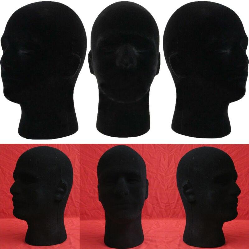 Male Styrofoam Foam Mannequin Manikin Head Model Wig Glasses Hat Display Stand Head circumference 54cm High 30cm
