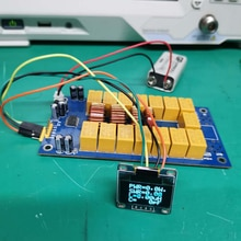 Antenna Coordinator ATU-100 DIY Kits 1.8-50MHz ATU-100 Mini Automatic Antenna Tuner N7DDC 7x7 + 0.96In OLED Firmware Programmed