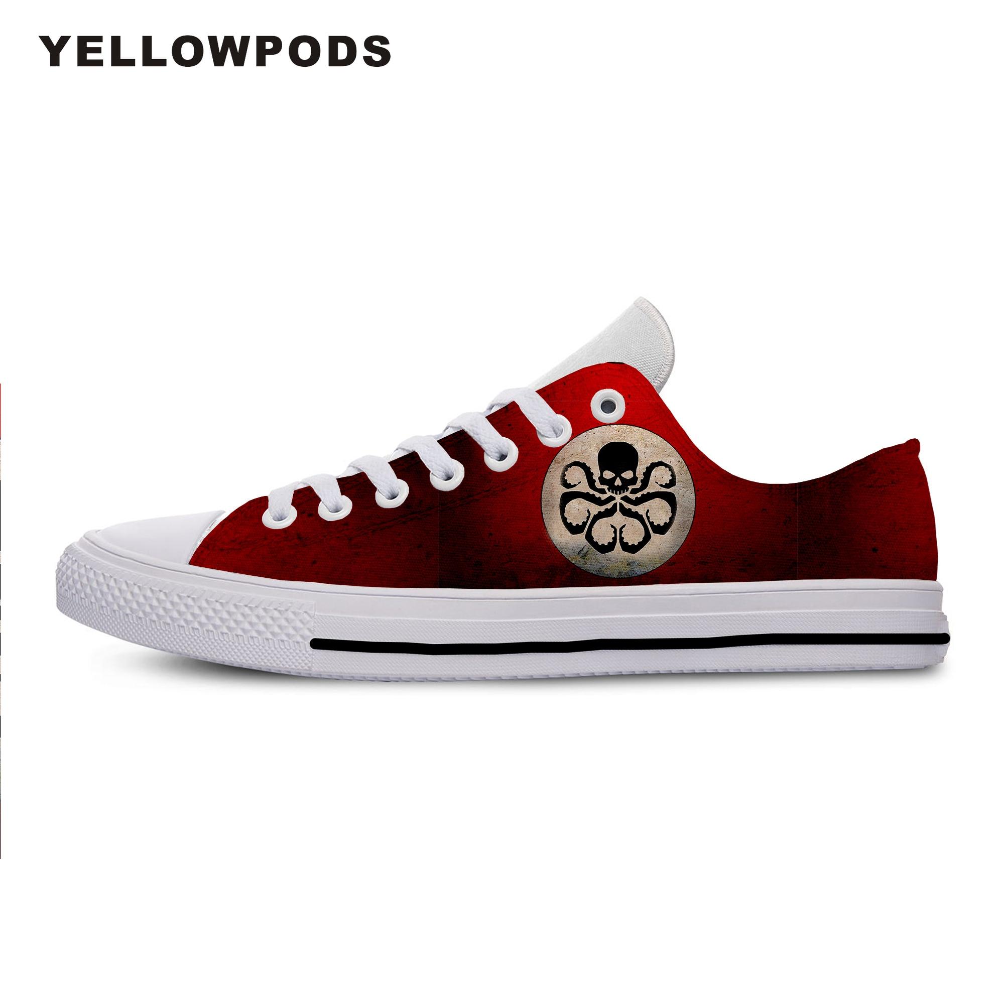 Zapatos informales para hombre, moda hidra de granizo, cómic de Marvel, superhéroe de Capitán América, buena impresión personalizada, pareja de imágenes, zapatos