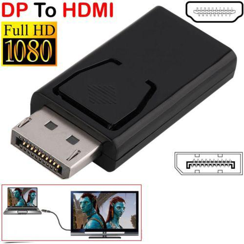 DP a HDMI convertidor Puerto DP macho a HDMI hembra convertidor Cable adaptador Video Audio conector para HDTV PC R19