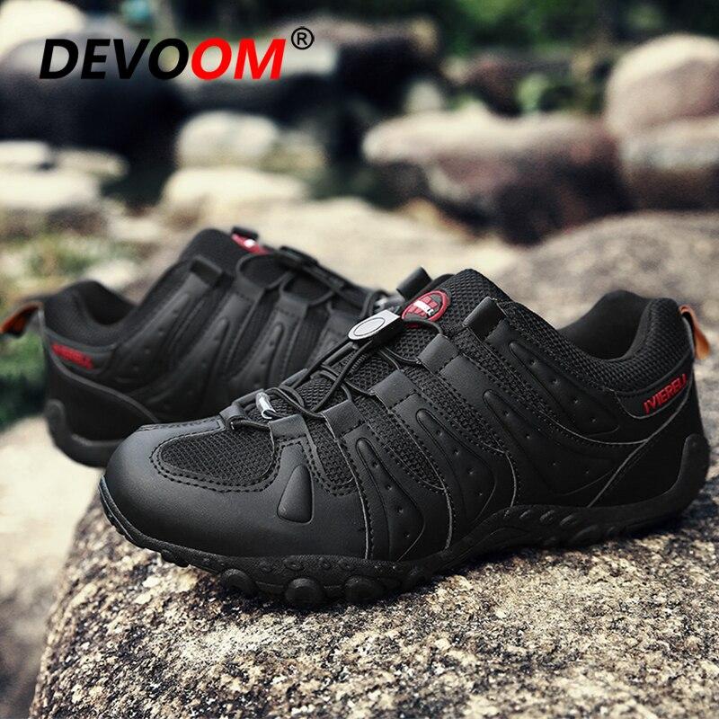Zapatillas impermeables al aire libre zapatos de senderismo para hombre botas militares tácticas para Hombre Zapatos de senderismo deportivos de cuero zapatos antideslizantes de escalada 46