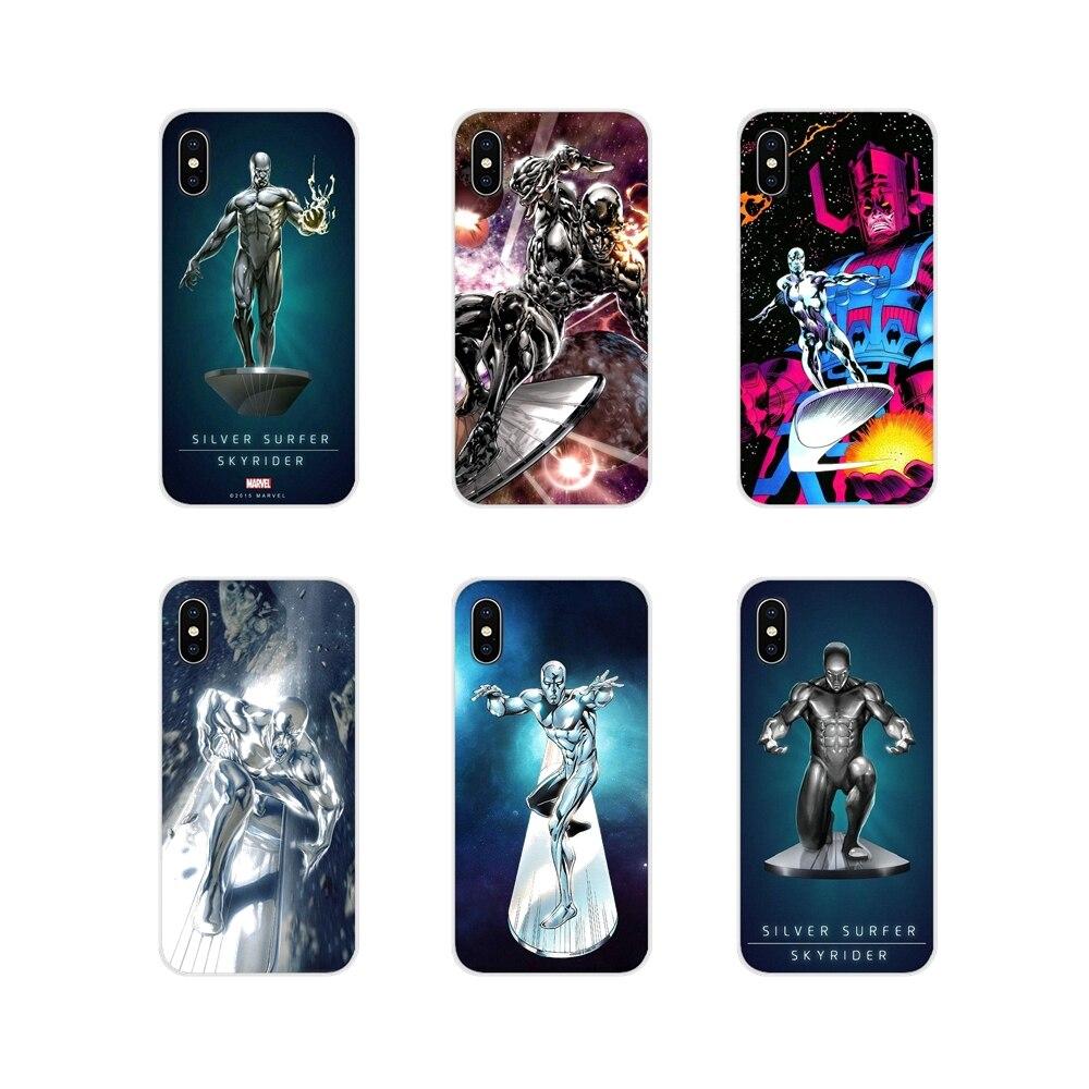 Marvel Surfista de Plata super hero para Apple iPhone X XR XS 11Pro MAX 4S 5S 5C SE 6 6S 7 funda de piel para teléfono móvil 8 Plus ipod touch 5 6