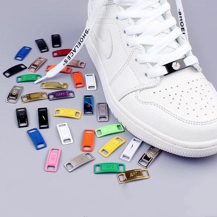 2pcs/pair Shoelace Buckle Metal Shoelaces AF1 Shoelaces Buckle Accessories Metal Lace Lock DIY Sneaker Kits Metal Lace Buckle