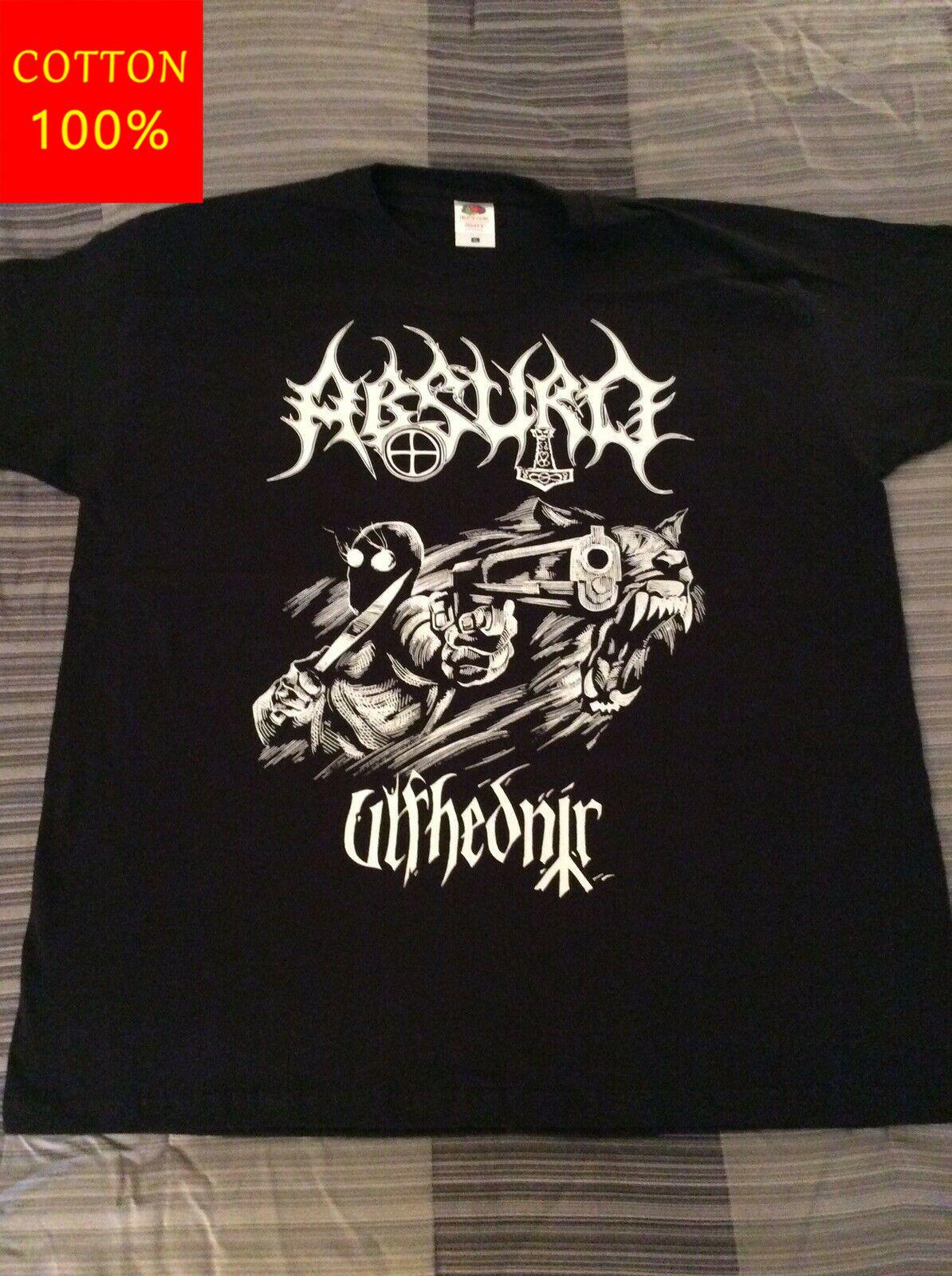 Absurdo ulfhednir camisa xl goatmoon taake 1burzum darkthrone o chasmulver t marca roupas engraçado camiseta topo