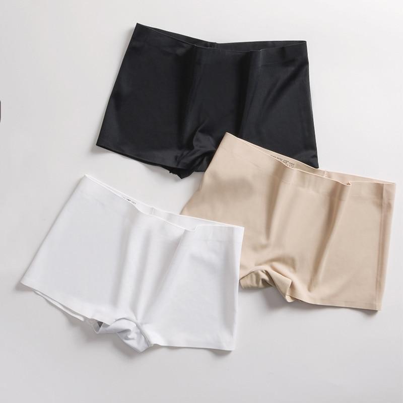 2pcs/lot Women Safety Shorts Pants Seamless Underwear Nylon High Waist Panties Seamless Anti Emptied Pants Girls Underpants #F