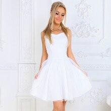Sleeveless Women's Dress Backless Party Dresses 2020 Women Summer Ball Gown Mesh Dress White Pink Elegant Lady Mini Night Dress