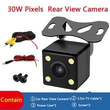 Cámara de visión trasera de marcha atrás de 170 ° para coche, cámara de visión nocturna con 4 LED de visión nocturna a prueba de agua