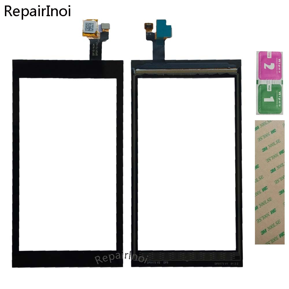10Pieces/Lot Mobile Touch Screen For Sunmi M1 Touch Screen Digitizer Panel Lens Sensor Panel Front Glass 3M Glue