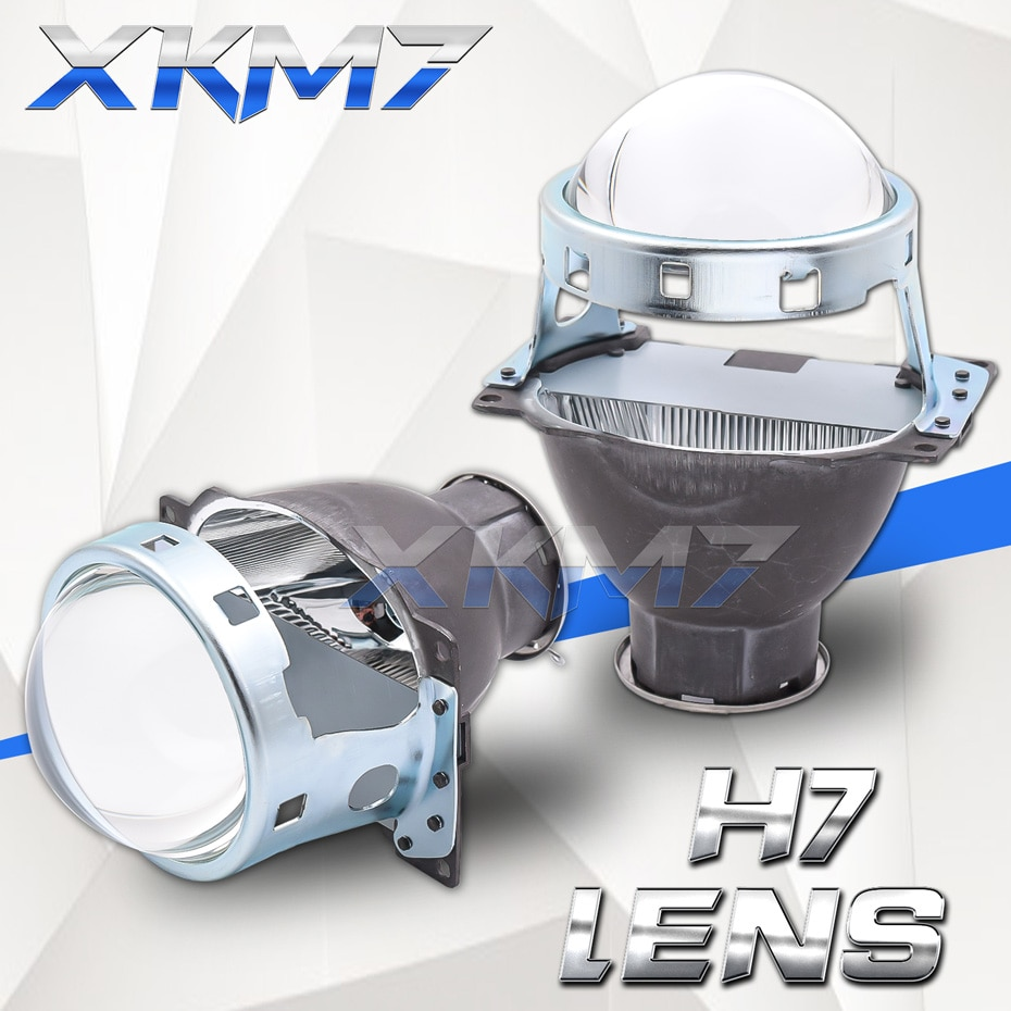 Lenses For Headlights Koito Q5 H7 Lens Single Xenon Projector 3.0 inch H7 D2S D2H LED HID Halogen Bu