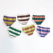 Culottes en coton doux pour enfants   Slips à rayures, sous-vêtements pour garçons et filles, vêtements pour adolescents