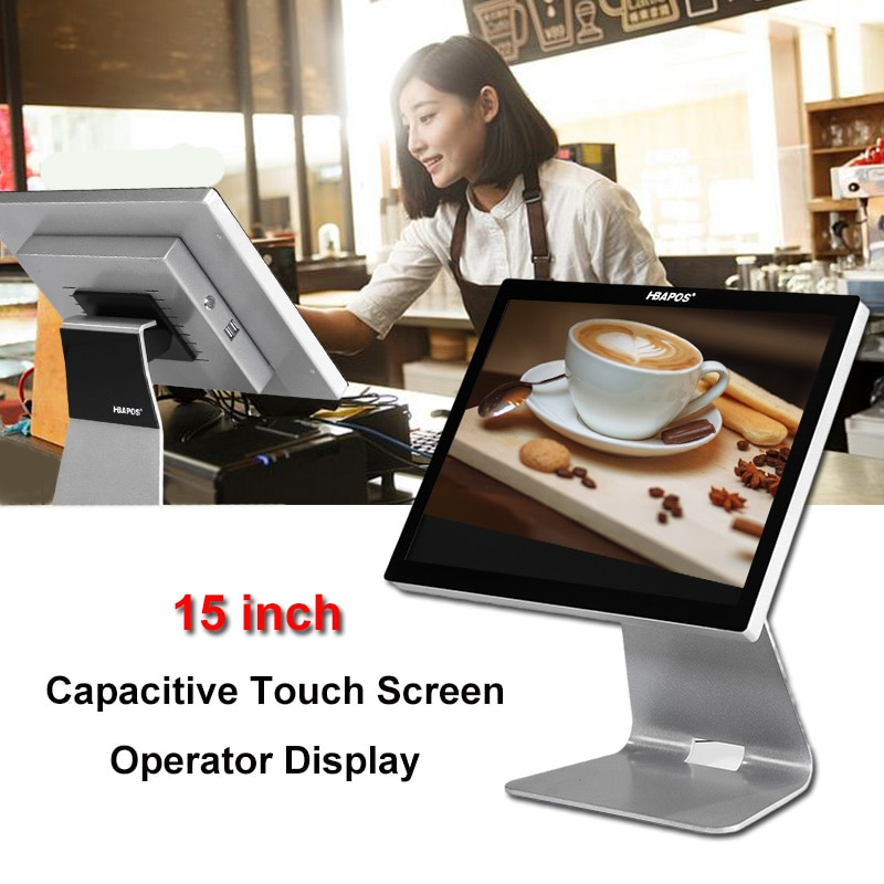 POS Systems Cash Register Machine Monitor POS Terminal 15 Inch Capacitive Touch Screen Display for Supermarket Retail Stores enlarge