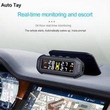 Smart Car TPMS Tire Pressure Monitoring System Solar Power Digital TMPS LCD Display USB Auto Securit