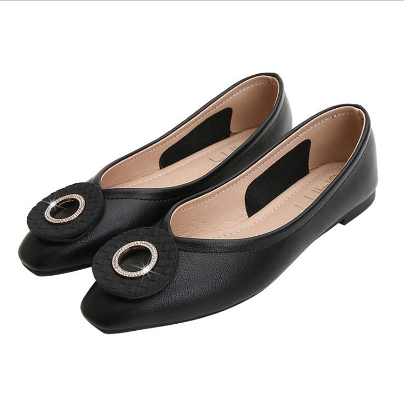 Women Flats Genuine Leather Shoes Female Casual Flat Ballet Loafers Womens Chaussures