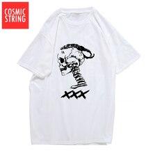 COSMIC STRING 100% baumwolle xxxtentacion kühlen schädel druck männer t-shirt casual kurzarm herren t-shirt oansatz t-shirt t shirts