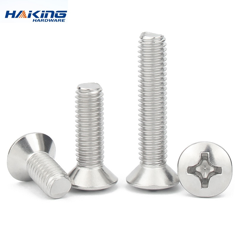 Фото - M2 M2.5 M3 M4 M5 M6 GB820 DIN966 A2-70 304 Stainless Steel Cross Recessed Phillips Raised Countersunk Head Half Oval Screw Bolt axk m1 6 m2 m2 5 m3 m4 m5 m6 din7985 gb818 304 stainless steel cross recessed pan head screw phillips tv computer bolts