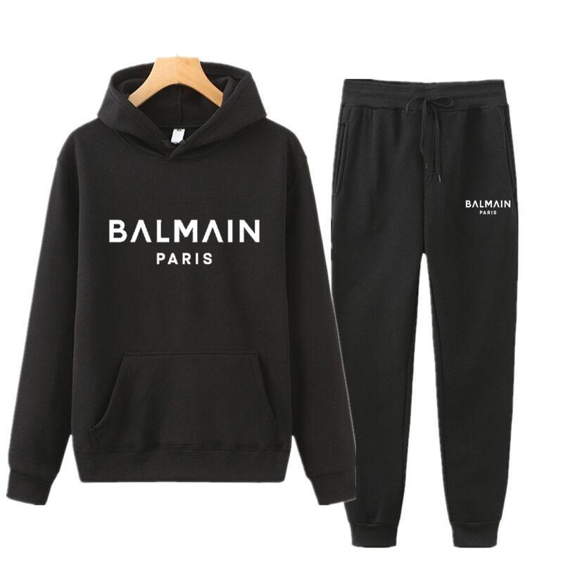 2021 new casual mens suit sportswear hooded sweatshirt + pants two-piece