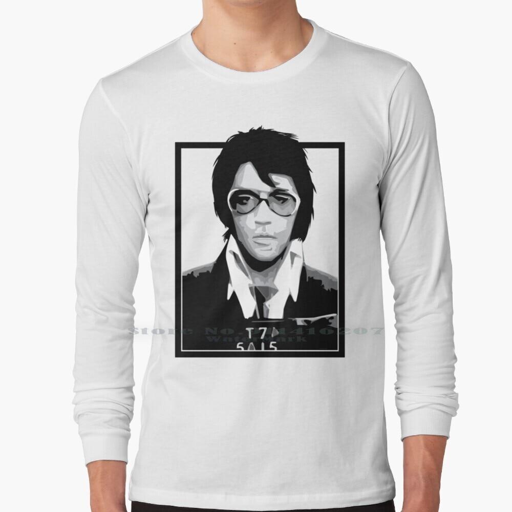 Mugshot King T Shirt 100% Pure Cotton Elvis Elvis Presley King Of Mugshot Mugshot Photo Photo Illustration Vector Design Frame