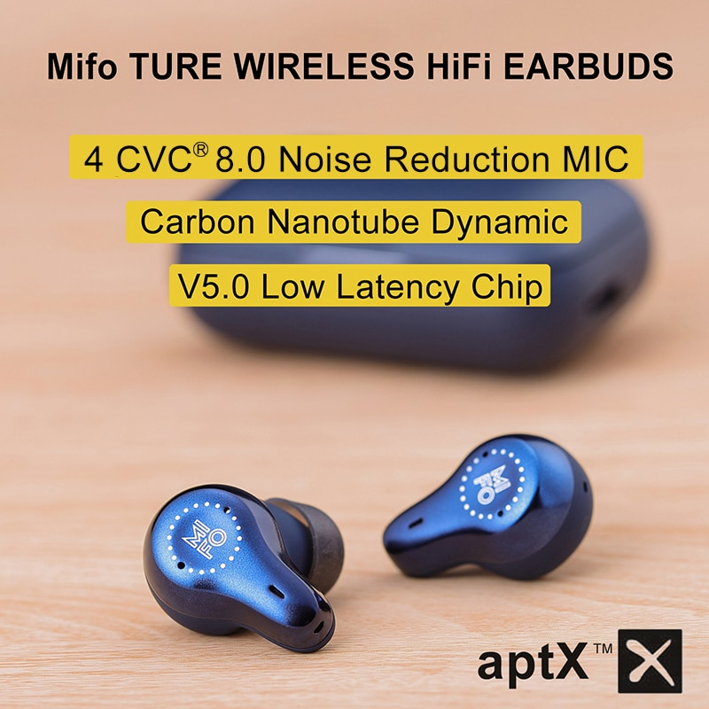 Review Mifo O7 True Wireless Earbuds Bluetooth 5.0 Carbon Nanotube Dynamic Earphones APTX Noise Cancelling TWS Earbuds with 4 Mics