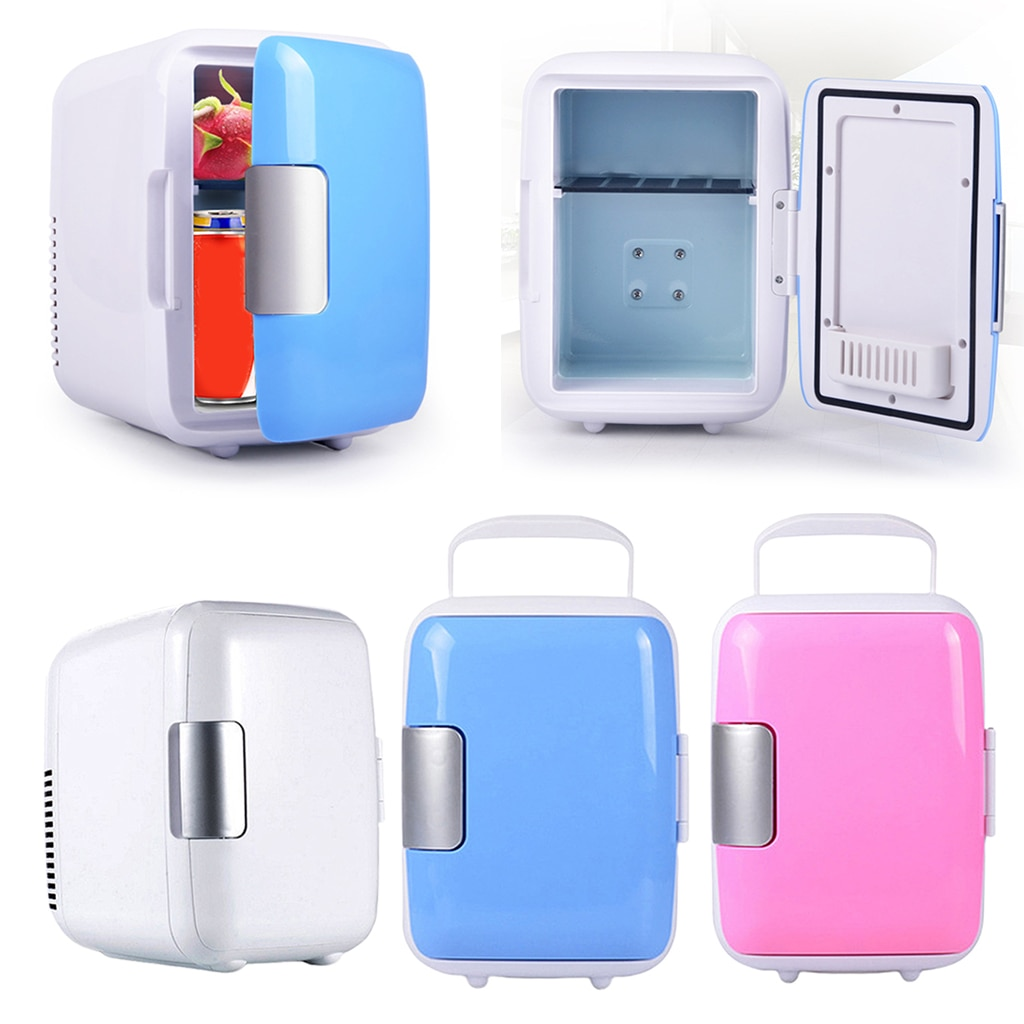 Refrigerador de coche Mini 4L, nevera portátil caliente, refrigerador, Motor de Camping con mango