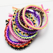 20PCS Girls Hair Bands Colors Matching Twist Weave Knotted Rubber Bands Cute Braid Hair Rope Childre