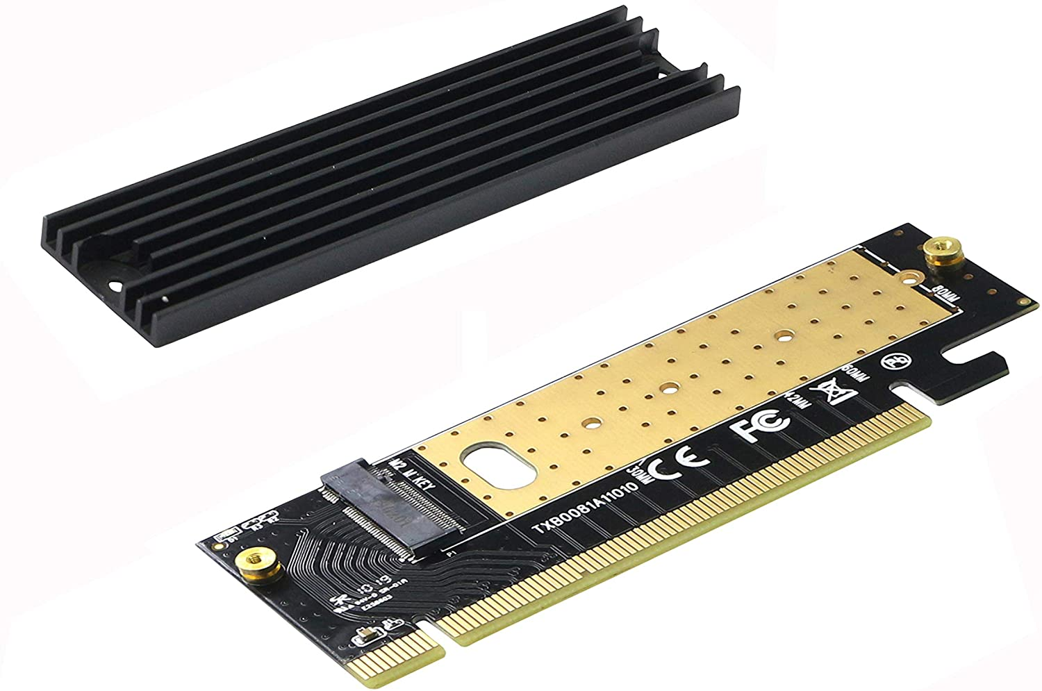 m.2 to pcie x16 adapter Card pci-e to m .2 convert adapter NVMe SSD Adaptor m2 M Key Interface PCI Express 3.0 x4 2230-2280 Size m 2 ngff pcie 4 lane ssd to pci e pcie 3 0 x4