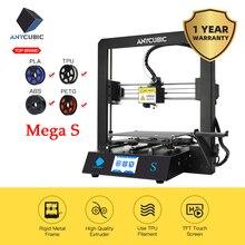 Impresora 3D ANYCUBIC Mega-S i3 Mega versión mejorada más tamaño TFT pantalla táctil Ultrabase escritorio Kit de impresora 3d drukarka 3d