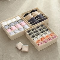 washable underwear storage box foldable 7 16 24 grids bras socks drawer organizer multi function home storage organizer