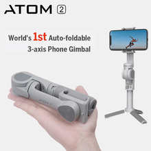Snoppa ATOM 2 Auto Foldable 3-Axis Handheld Gimbal Stabilizer Gimbal for Smartphone Android Phone smooth4 mini mx gopro