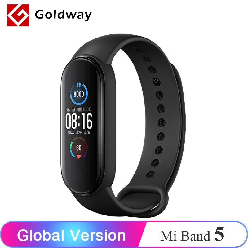 Global Version Xiaomi Mi Band 5 Smart Bracelet 4 Color Screen Smart Band Bluetooth Sport Fitness Traker Fitness Traker Smartband