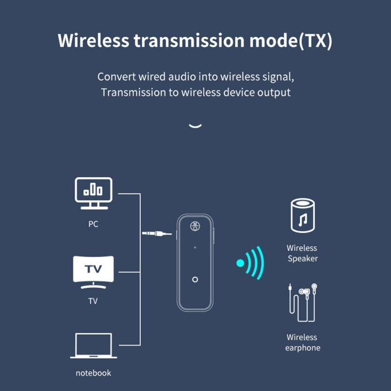 Mini Wireless Adapter Stereo Bluetooth AUX USB Jack Audio Receiver Transmitter For TV PC Headphone Car Kit For Headphones enlarge