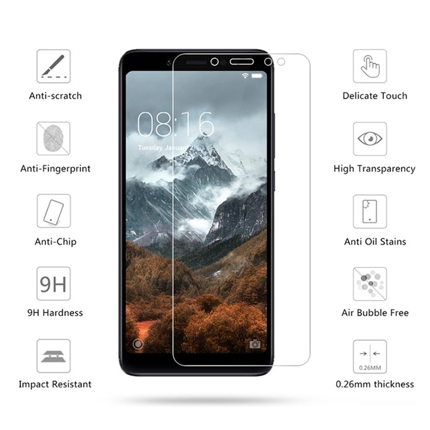 Claro de templado de vidrio de película para Samsung Galaxy J330 J530 J730 J3 J5 J7 2017 J1 mini primer A6 A8 2018 J4 J6 2018 Protector de pantalla