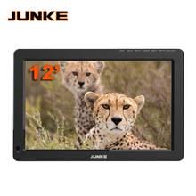 JUNKE تلفزيون محمول 12 بوصة الرقمية والتناظرية Led التلفزيون دعم TF بطاقة USB الصوت سيارة التلفزيون dvb-t DVB-T2 AC3