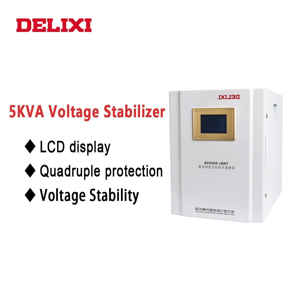 DELIXI TND3-5KVA 5KW refrigerador doméstico PC estabilizador estabilizador de tensão monofásico 220V AC Automático regulador de tensão