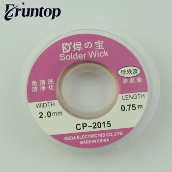 2PCS Width 2.0mm BGA Desoldering Wire Solder Wick CP-2015 Length 0.75m