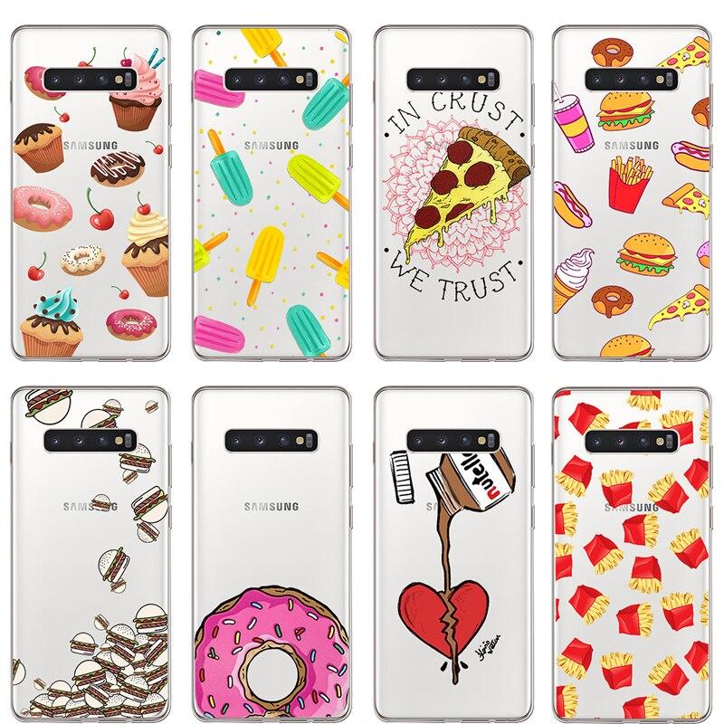 Ciciber lindo chocolate para Samsung S9 S10 S8 S7 S6 S5 Edge Plus S10e suave silicona TPU teléfono caso para Galaxy Note 10 9 8 5 Plus