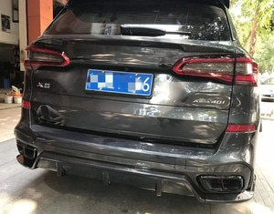 For BMW X5 Middle wing spoiler G05 spoiler 2018-2019 Paste Installation carbon fibre  Material Rear Middle wing spoiler