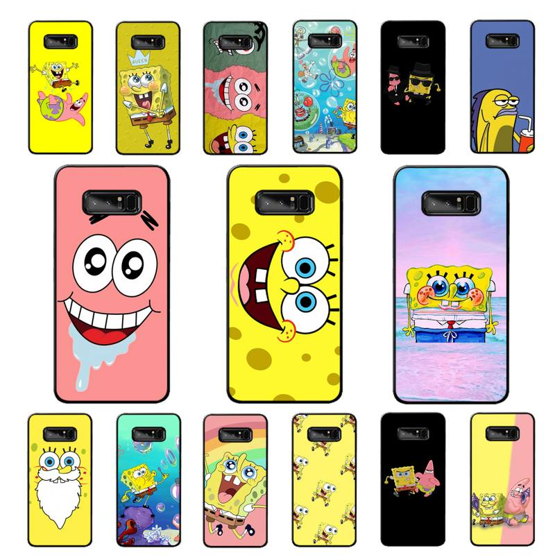 YNDFCNB nos Anime feliz de dibujos animados lindo Patrick estrella bebé caja del teléfono para Samsung nota 3 4 5 6 7 8 9 10 pro plus lite 20 ultra