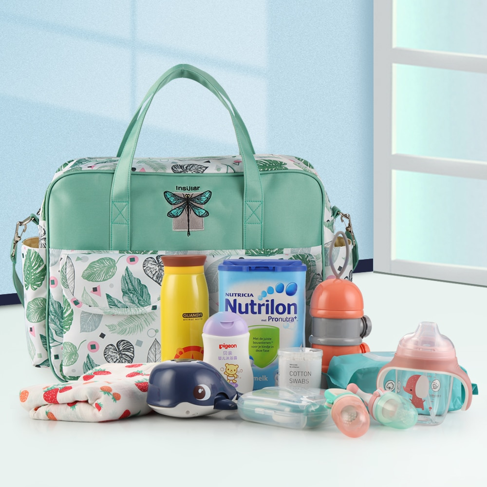 NEW Fashion Mummy Maternity Nappy Bag Large Capacity Nappy Bag Travel Backpack Nursing Bag for Baby Care Women's Fashion Bag