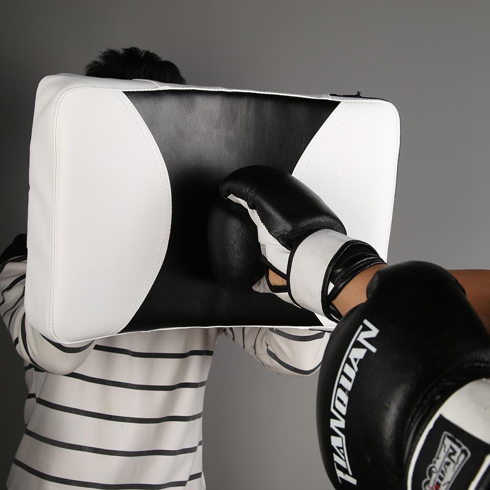 Adulto criança muay thai karate almofada engrossado pu taekwondo boxe alvo saco sanda pontapé soco escudo almofada boxe equipamentos finenss