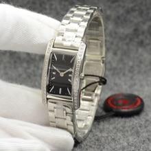 Classic Stainless Steel Sapphire Quartz Watch Women Full Diamond Bezel Silver Gold Yellow calendar w